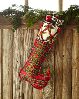 Tartan Yuletide Noel Christmas Stocking