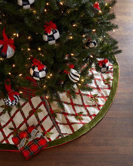 - MacKenzie-Childs Tartan Yuletide Christmas Tree Skirt