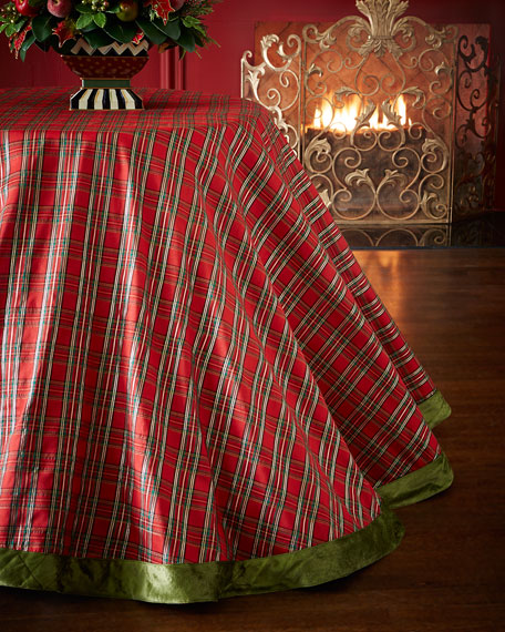 MacKenzie Childs Tartan Yuletide Tablecloth