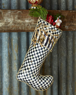 Golden Laurel Christmas Stocking