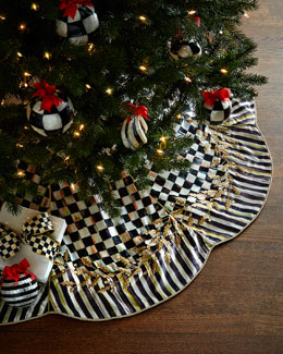 Golden Laurel Christmas Tree Skirt