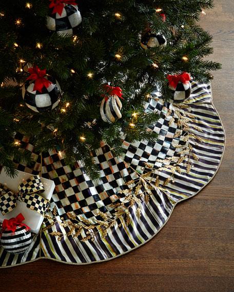 MacKenzie-Childs Golden Laurel Christmas Tree Skirt