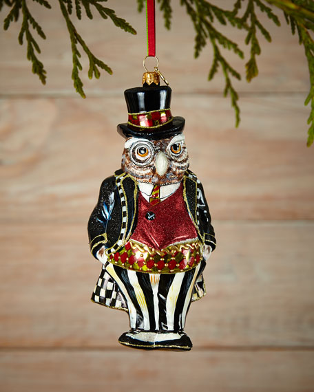 Mackenzie Childs Mr Fowler Christmas Ornament