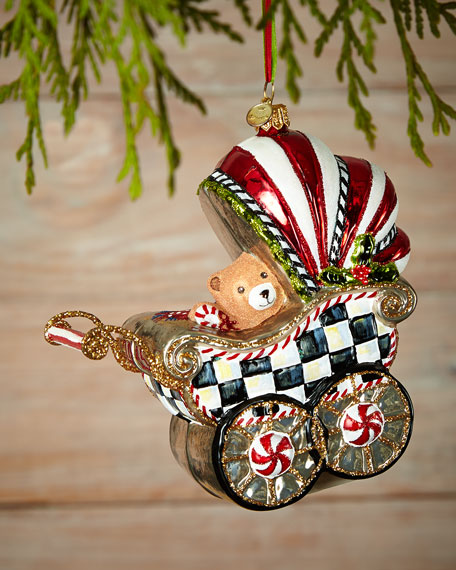 MacKenzie-Childs Baby's First Pram Christmas Ornament