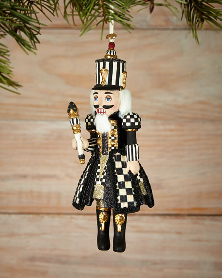 MacKenzie-Childs Courtly Check Nutcracker Christmas Ornament
