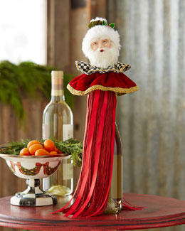 Santa Wine Bottle Tassel