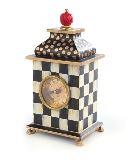 MacKenzie-Childs Zigzag Desk Clock