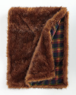 Faux-Fur Reversible Throw