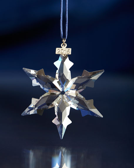 Swarovski 2015 Annual Snowflake Christmas Ornament