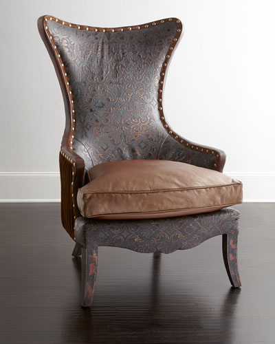 Martha Leather Wing Chair