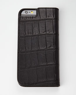 Black Alligator iPhone 6 Wallet Folio
