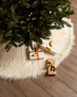 Faux Mongolian Lamb Christmas Tree Skirt