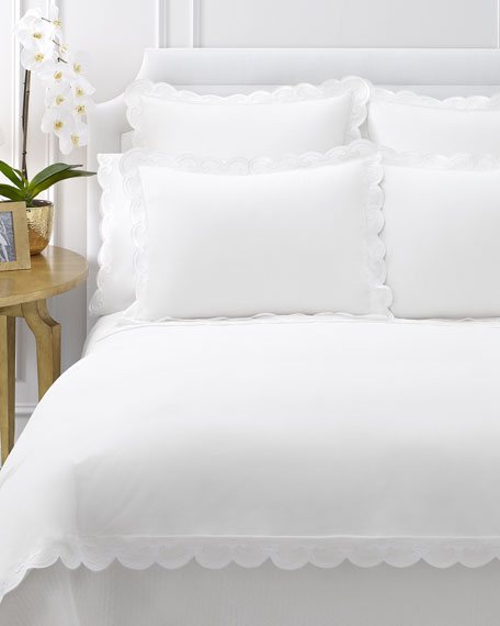 King Duvet Cover with Scallop Trim