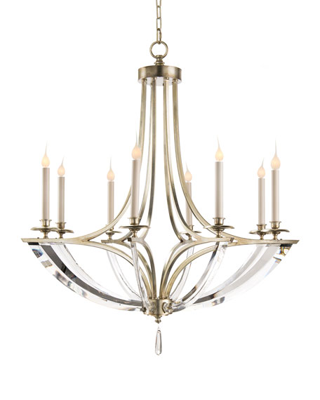 Bent 8-Light Crystal Chandelier