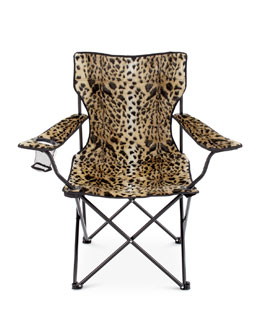 Leopard-Print Folding Chair