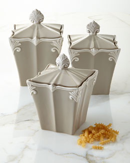 Baroque Canisters, Three-Piece Set