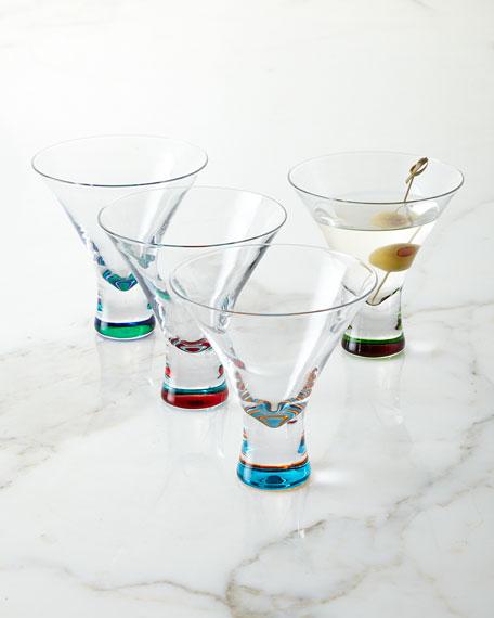 DKNY Martini Glasses 4 Piece Set