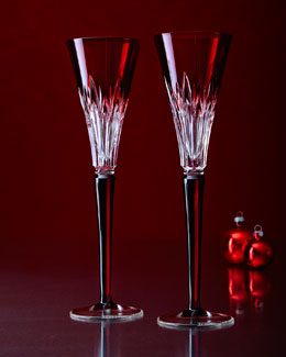 Times Square Gift of Wonder Ruby Flutes, Set of 2