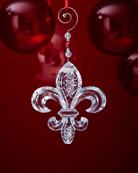 Waterford fleur de lis christmas ornament