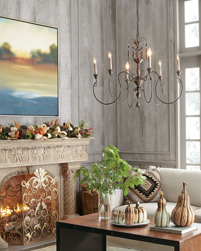Salento Vintage-Copper 6-Light Chandelier