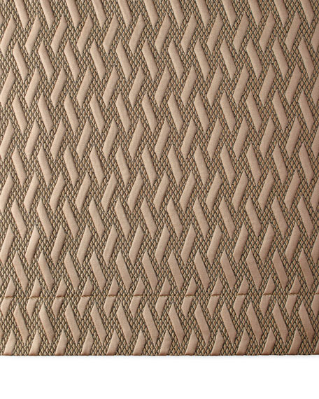 Queen Le Plaza Woven-Pattern Coverlet