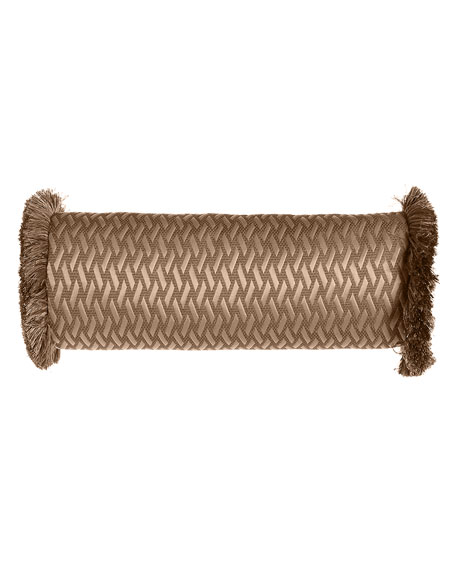 """Le Plaza Woven-Pattern Neck Roll Pillow, 21"""" x 8"""""""