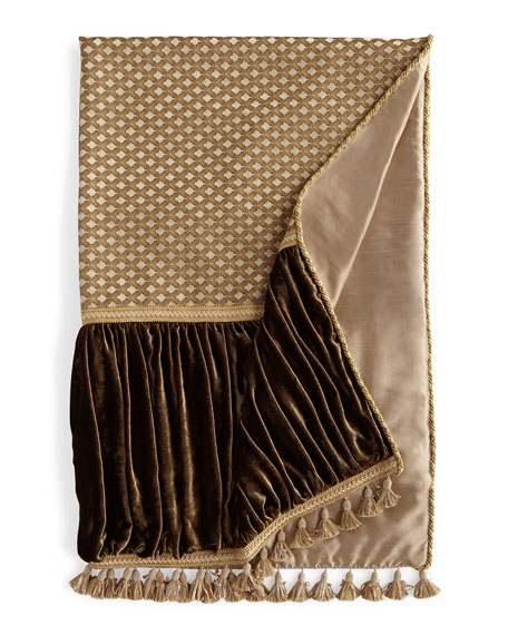 Pieced Gatsby Throw with Ruched Velvet Sides