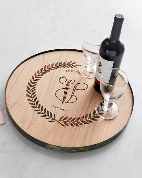 Wine Barrel Lazy Susan, Personalized