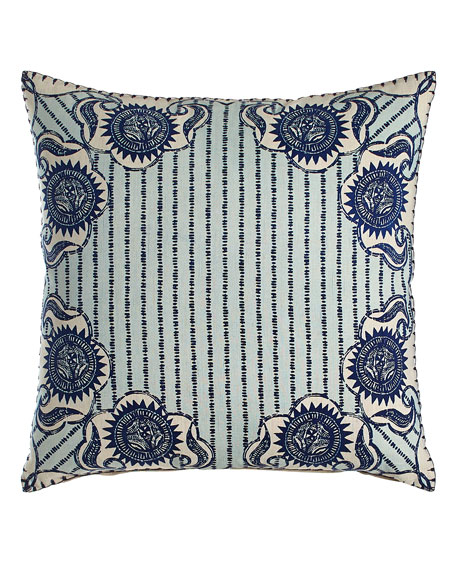 Luha Pillow with Striped Center, 20