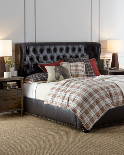 Gables Tufted Leather King Bed