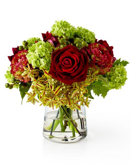 Rose & Ranunculus Faux-Floral Arrangement