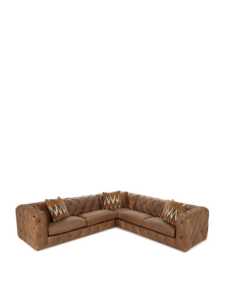Brewster Three-Piece Leather Sectional