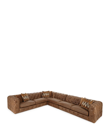 Brewster Four-Piece Leather Sectional