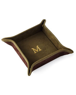 Suede Small Valet Tray, Personalized