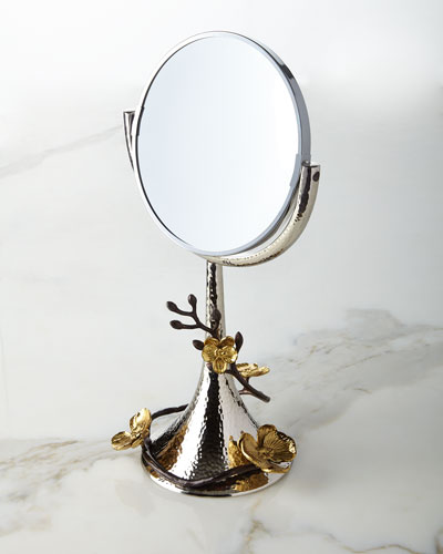 Gold Orchid Vanity Mirror