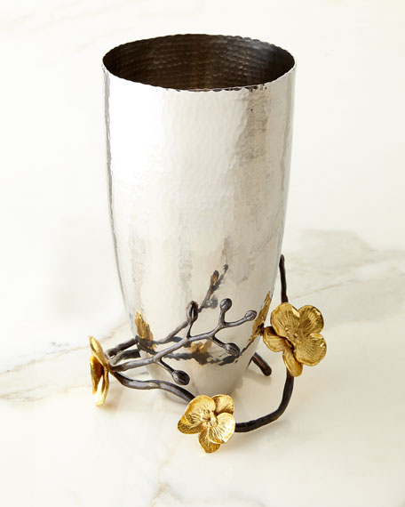 Gold Orchid Medium Vase