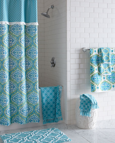 Tangiers Fringed Ogee Pattern Hand Towel