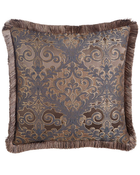 European Marilyn Damask Sham with Fringe