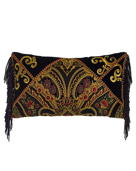 """Marrakesh Pillow with Fringe, 23"""" x 13"""""""