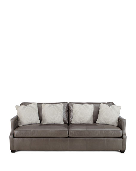 Bernhardt mirabelle leather sofa for Where to buy bernhardt furniture online