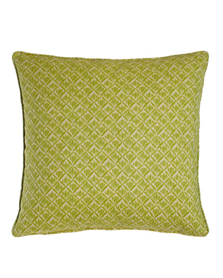 "Kimono Honeydew Green Pillow, 20""Sq."