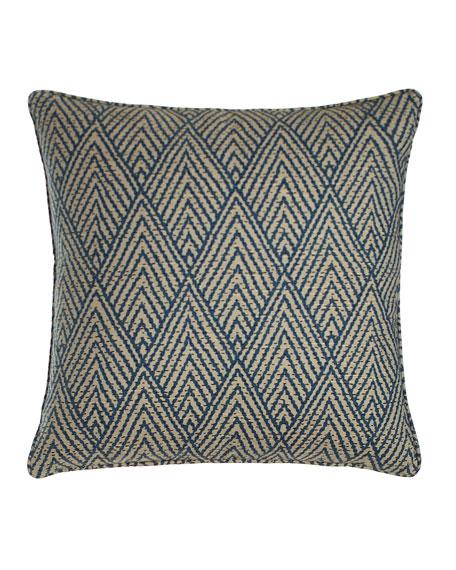 """Tahitian Stitch Sapphire Pillow, 20""""Sq."""