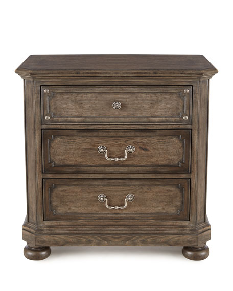 Matilda Three-Drawer Nightstand