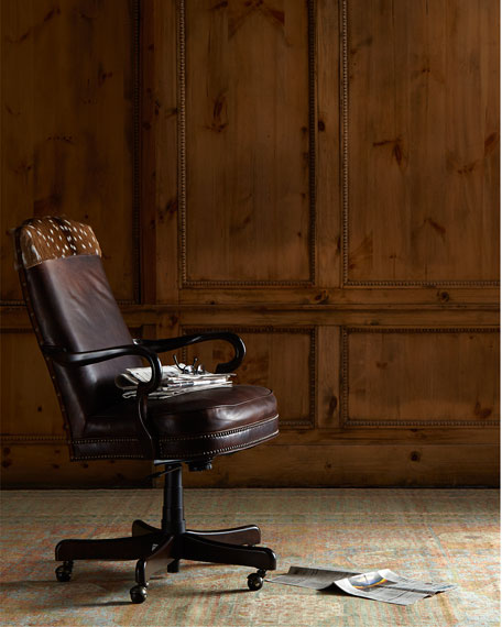 Vale Leather Hairhide Office Chair