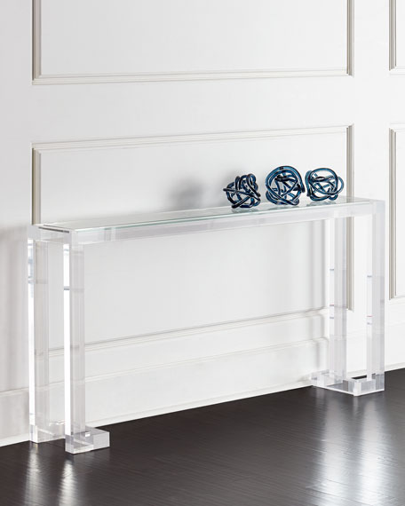 Interlude home naomi acrylic console table - Used console table for sale ...