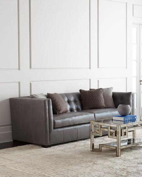 Hayden Tufted-Leather Sofa