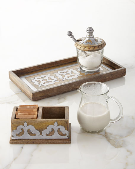 G G Collection Heritage Cream & Sugar Set