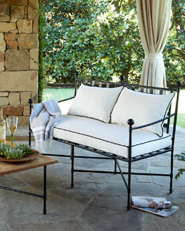 Avery Neoclassical Outdoor Bench