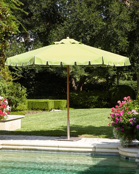 Green Keyhole Valance Outdoor Market Umbrella