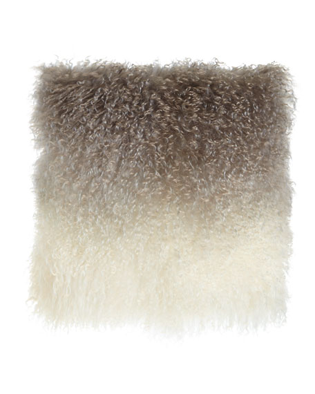 Ombre Mongolian Fur Pillow